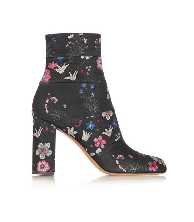 Valentino Spring Garden Brocade Ankle Boots