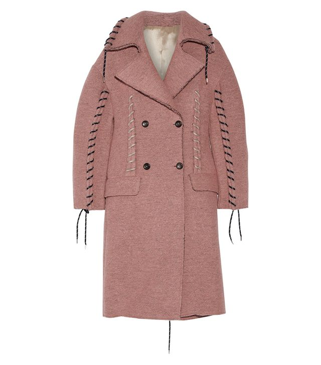 Acne Studios Evia Whipstitched Wool-Blend Coat