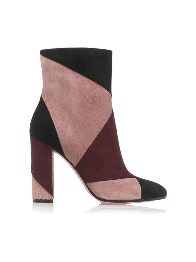 Gianvito Rossi Patchwork Suede Ankle Boots