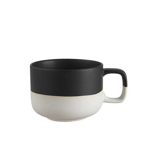 CB2 Black Dip Coffee Mug