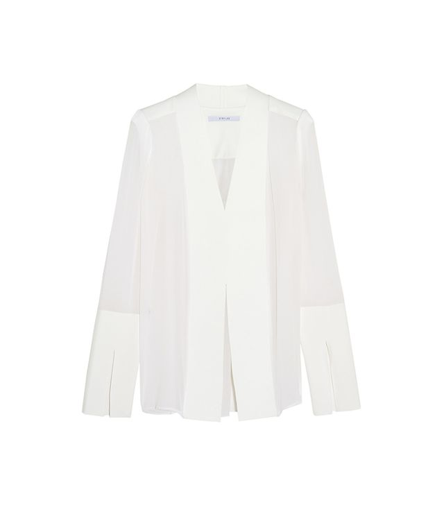 Dion Lee Cady and Silk Chiffon Blouse