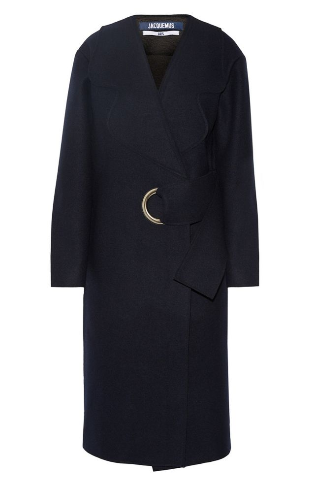 Jacquemus Oversized Belted Wool-Felt Coat