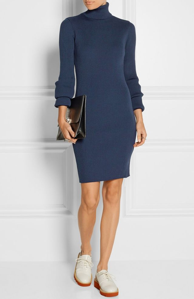 Jacquemus Ribbed-Knit Turtleneck Dress