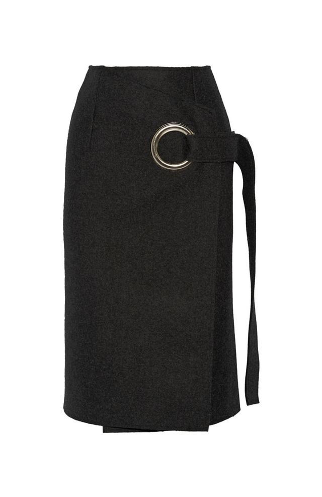 Jacquemus Wool-Felt Wrap Skirt