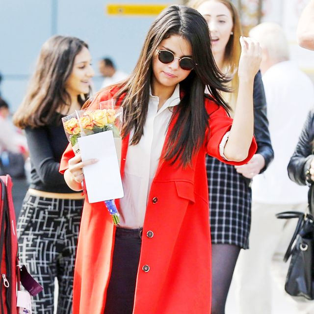 Selena Gomez Travels in Style for London Fashion Week