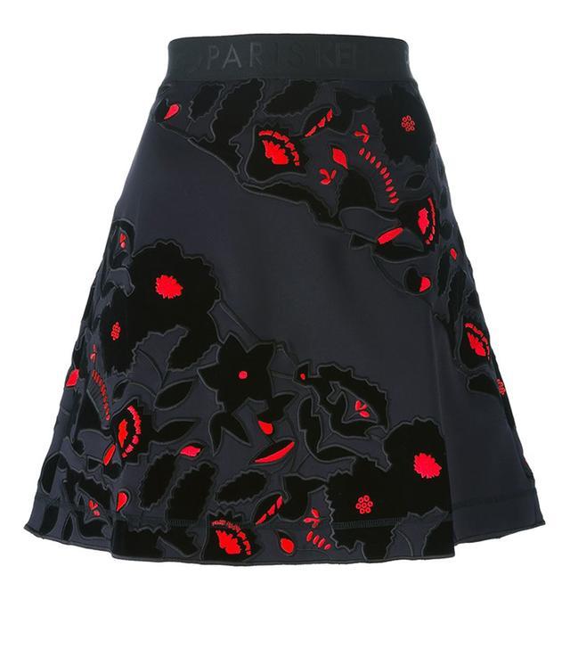Kenzo Flower Applique Skirt