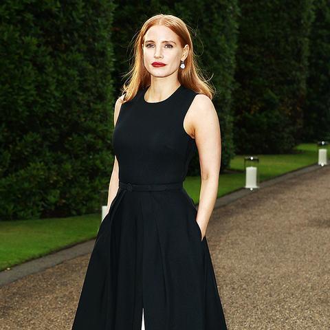 Jessica Chastain Wearing Black