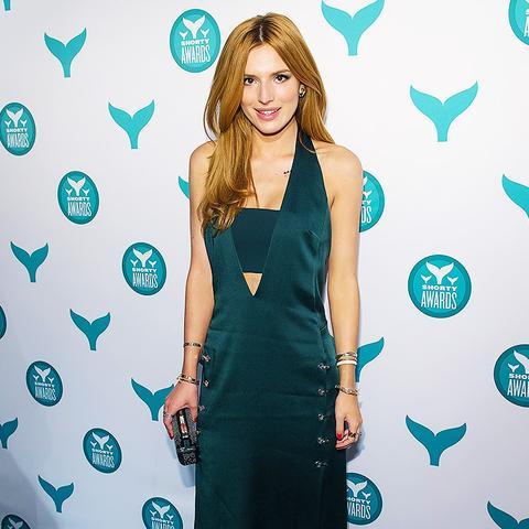 Bella Thorne Wearing Emerald Green