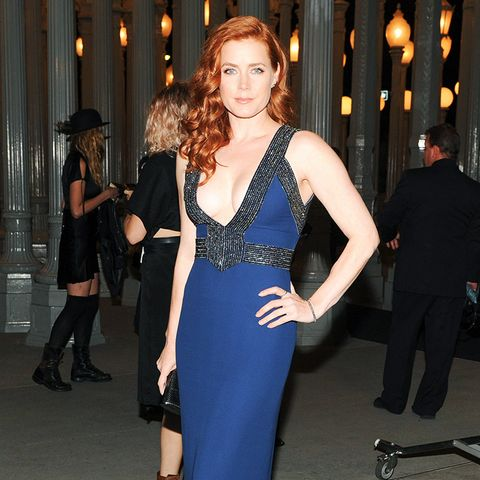 Amy Adams Wearing Deep Blue