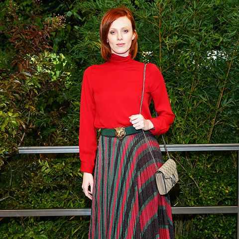 Karen Elson Wearing Red