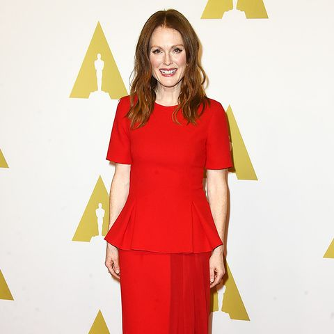 Julianne Moore Wearing Red
