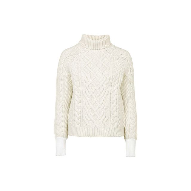 Topshop Keswick Chunky Polo Knit Sweater by Unique