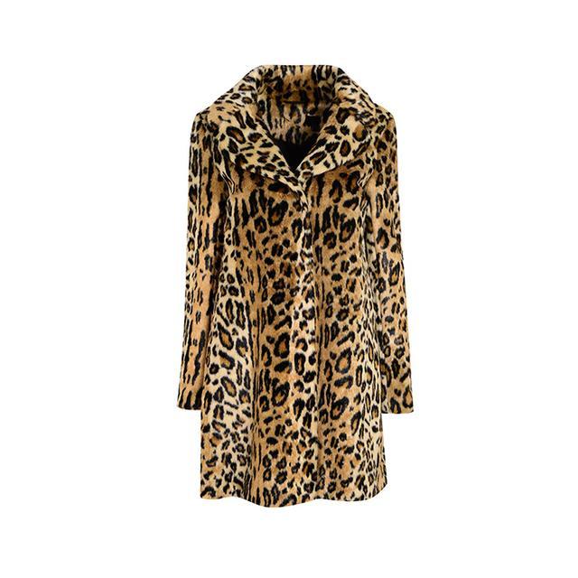 Topshop Leopard Print Swing Coat