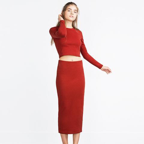 Long Skirt in Red