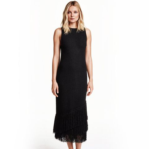 Dress With Fringe Trim