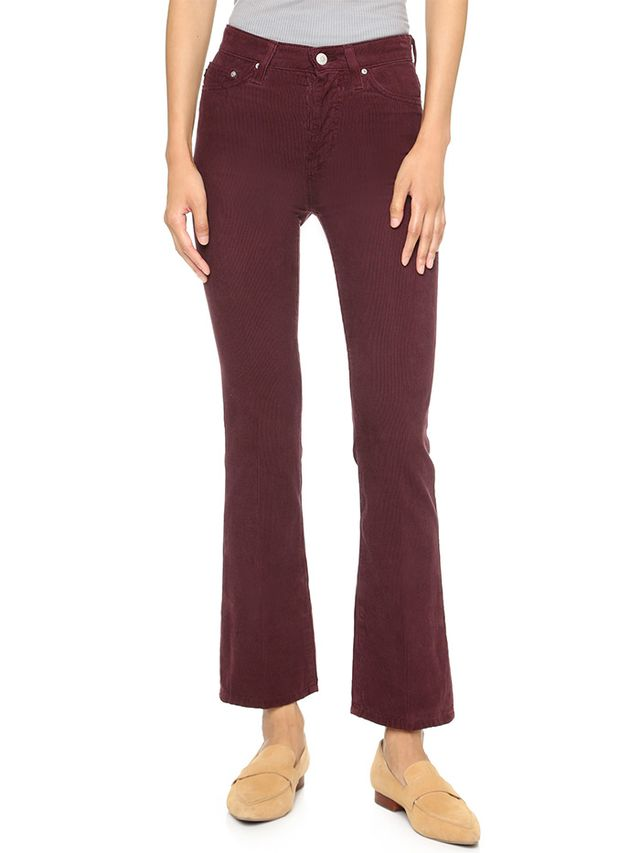 AG Alexa Chung x AG Revolution High Waisted Corduroy Pants