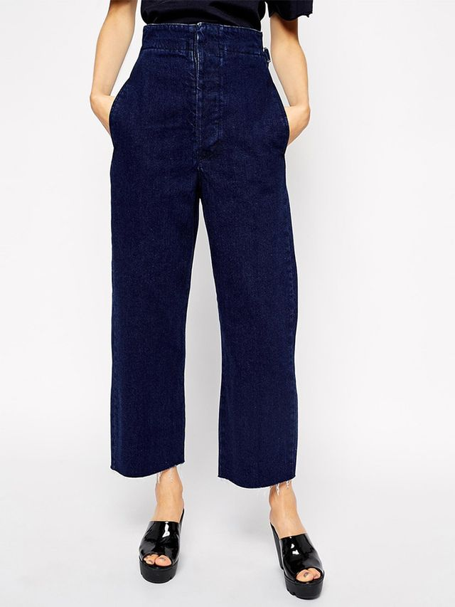 ASOS High Waist Wide Leg Jeans