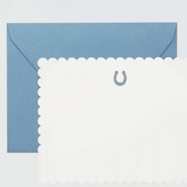 Draper James Horseshoe Letterpress Card Set