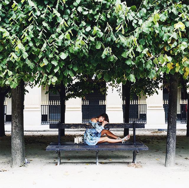 Lounging in Jardin du Palais-Royal