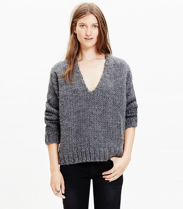 Anaak Handknit V-Neck Sweater