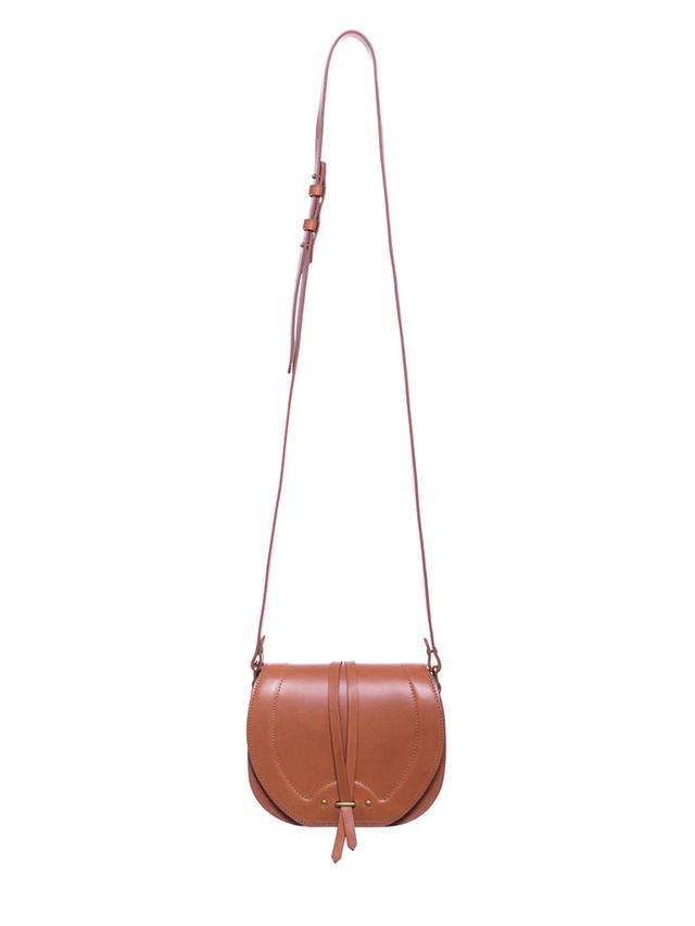 Jerome Dreyfuss Victor Terre Cuite Cowskin Crossbody Bag