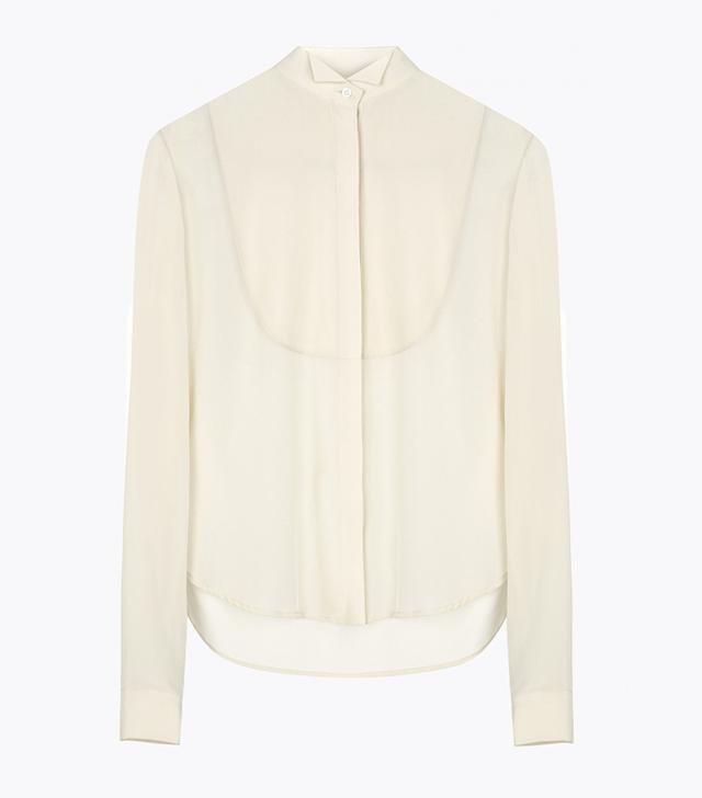 Atea Oceanie Tuxedo Shirt Silk Crepe de Chine