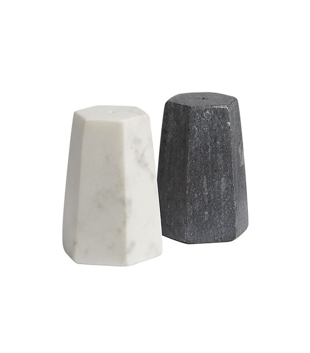 CB2 Marble Salt and Pepper Shaker Set