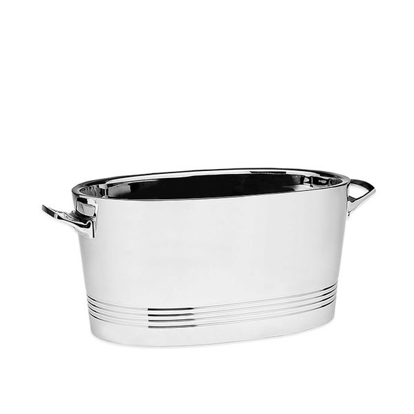 Top Shelf Silver Stainless Steel Cocktail Party Tub