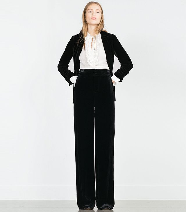 Zara Wide Velvet Trousers