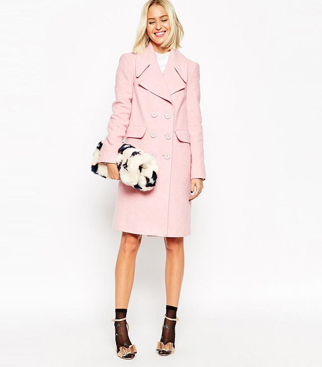 ASOS Coat With 60s Collar