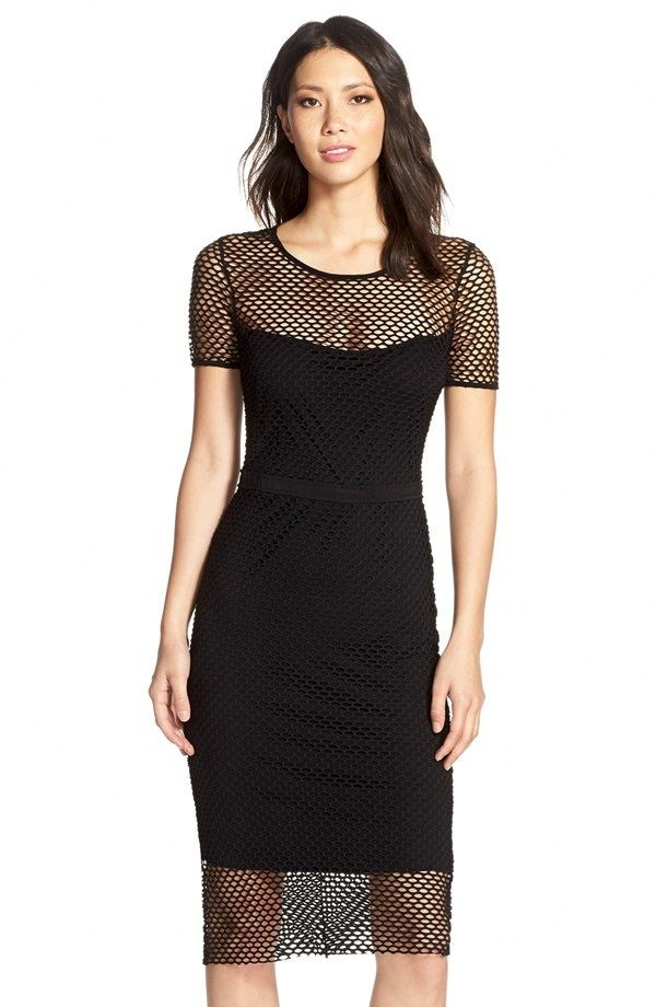 Cynthia Steffe Mesh Midi Dress