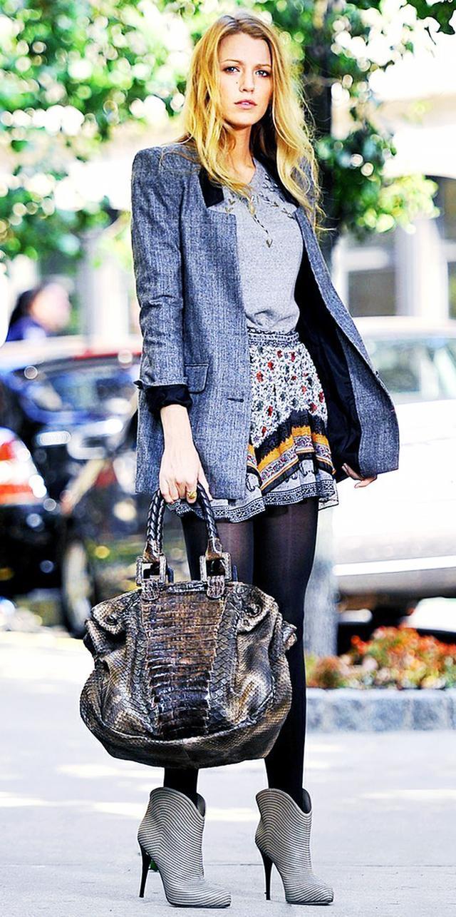 Blazer + Miniskirt Then: