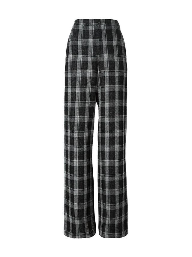 Proenza Schouler Wide Leg Plaid Trousers