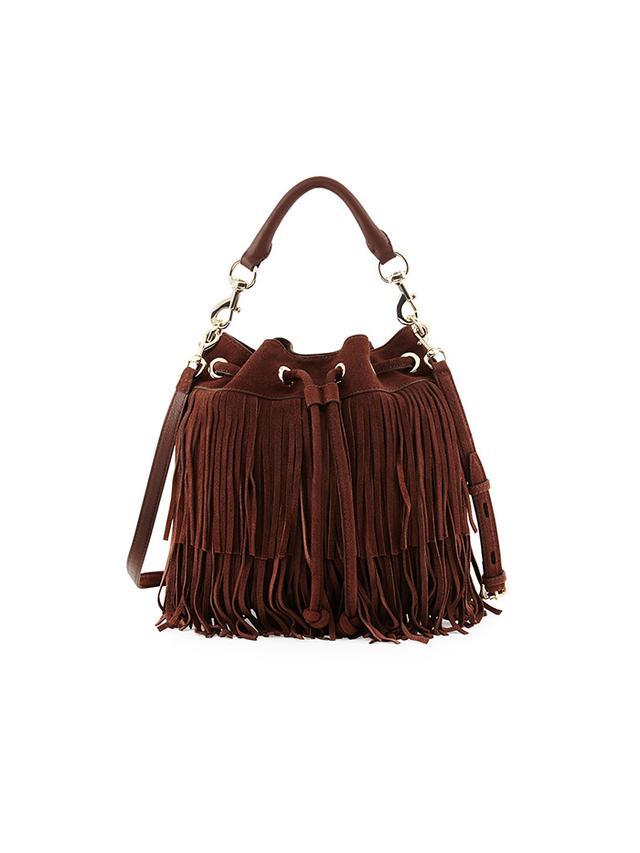 Rebecca Minkoff Fiona Suede Fringe Bucket Bag