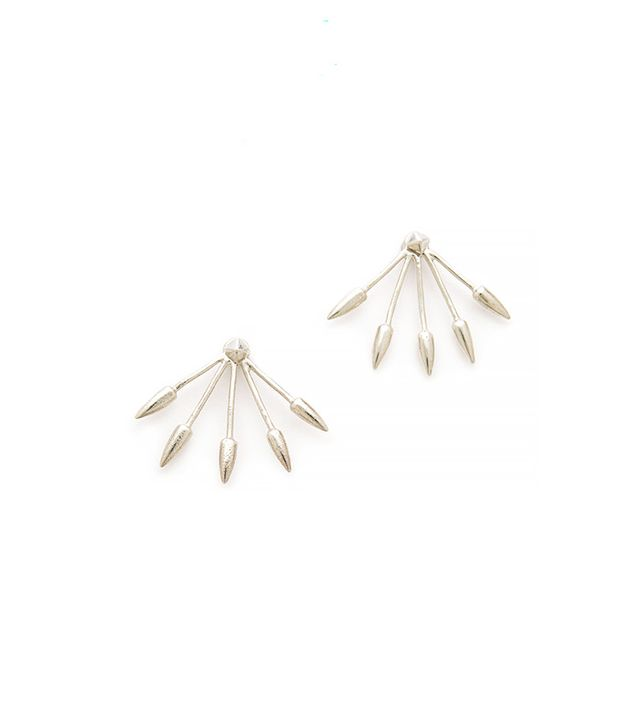 Pamela Love Five Spike Stud Earrings