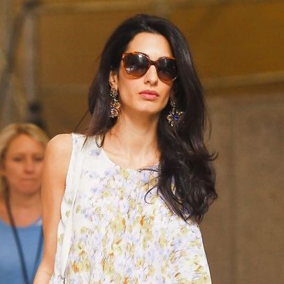 See the Dress Amal Clooney Chose for a Sushi Dinner With George