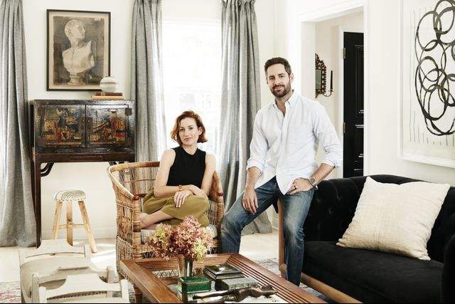 Power discovered her beautiful woven armchair in celebrated interior designer Nathan Turner's West Hollywood showroom.