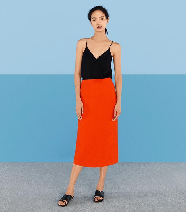 Finery London Habury Crinkle Pencil Skirt