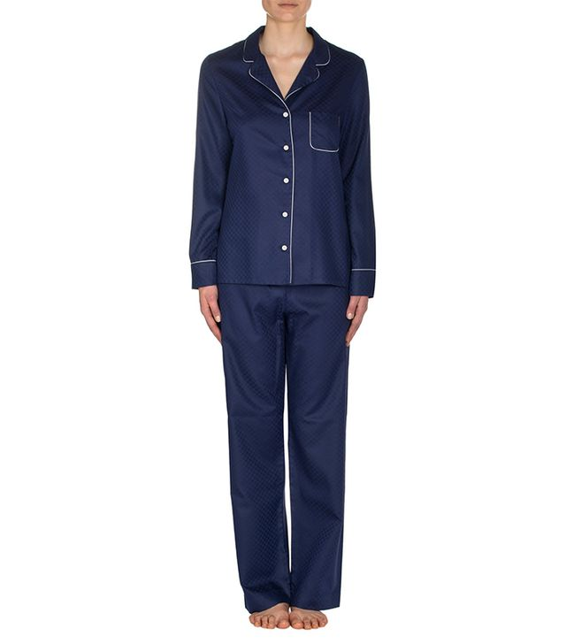 Derek Rose London Lombard Navy Pajamas