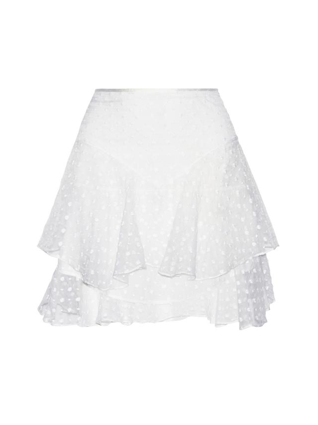 Isabel Marant Vadim Tiered Embroidered Silk-Organza Mini Skirt