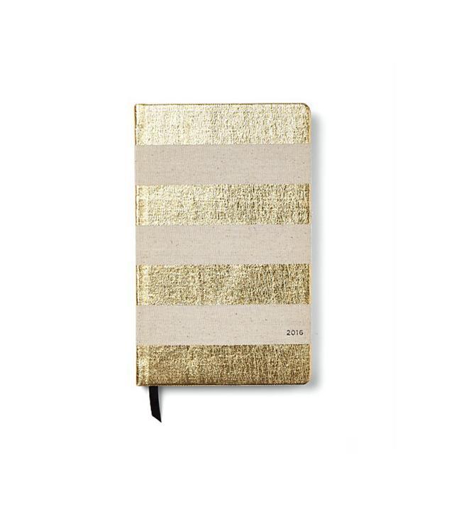 Kate Spade New York 12-Month Agenda, Gold Stripe