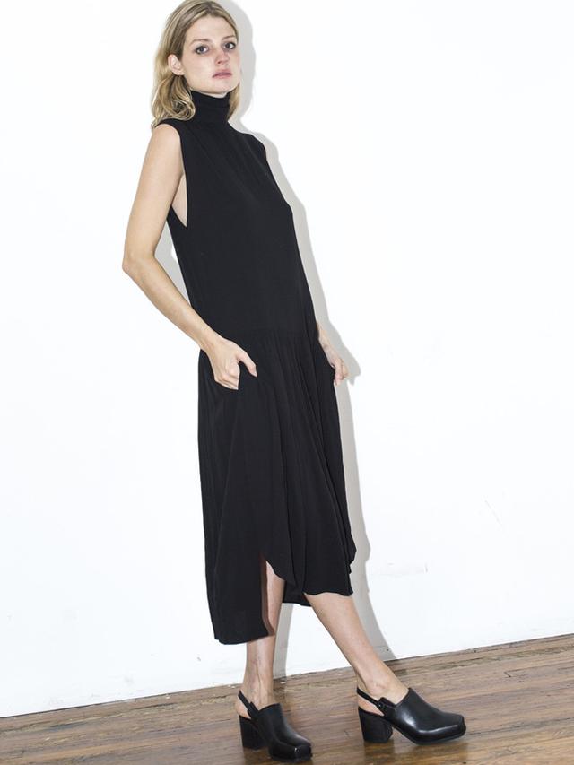 Assembly New York Black Pleat Dress