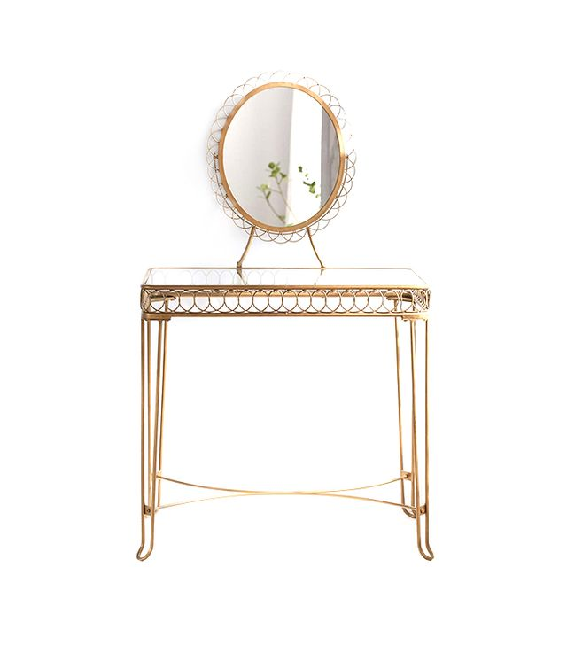Plum & Bow Gold Wire Loop Vanity