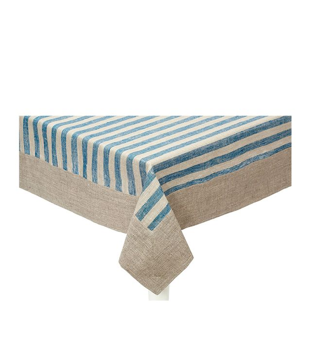 Linen Way Serenite Stripe Tablecloth, Teal
