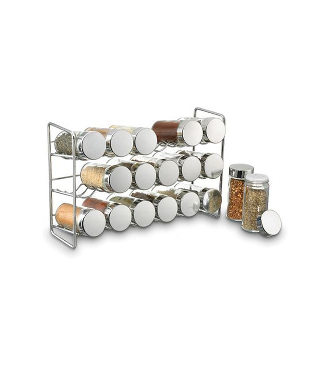 Kohl's Polder Stainless Steel Compact Spice Jar Rack