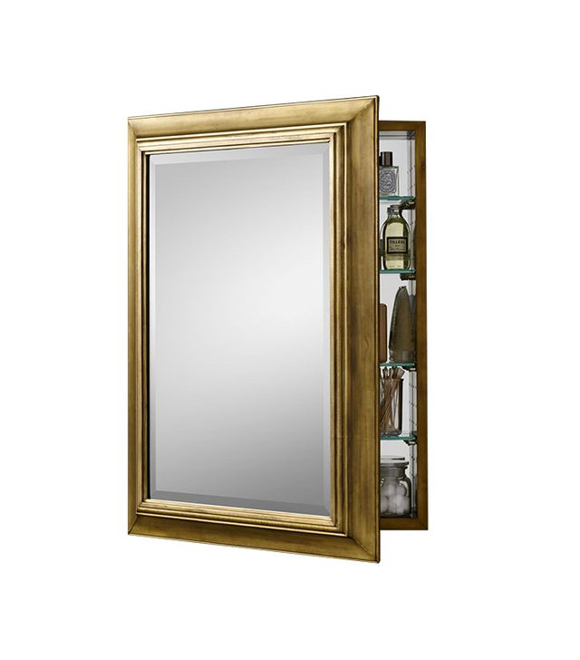 Restoration Hardware English Aged Brass Medicine Cabinet