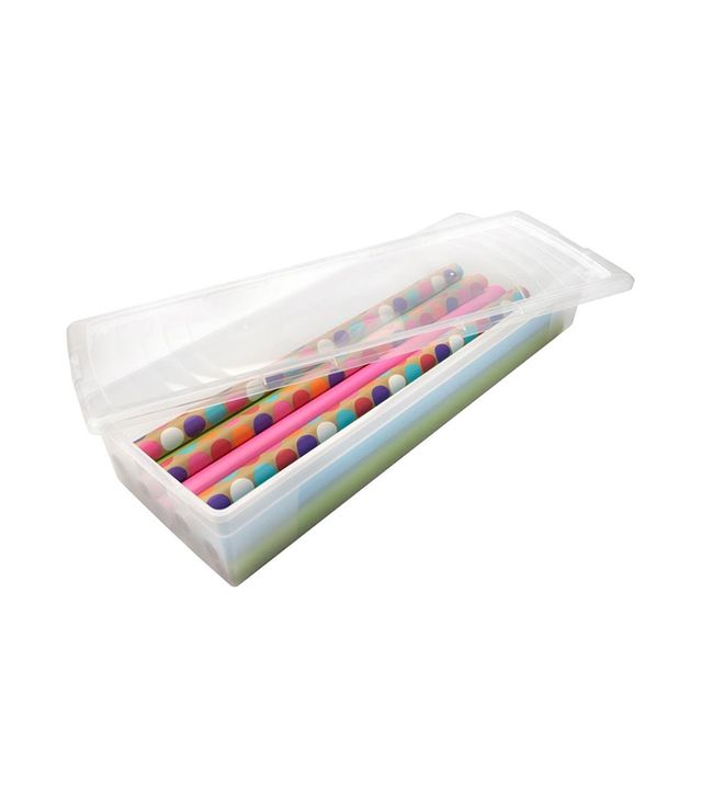 Iris Clear Underbed Gift Wrap Storage Box