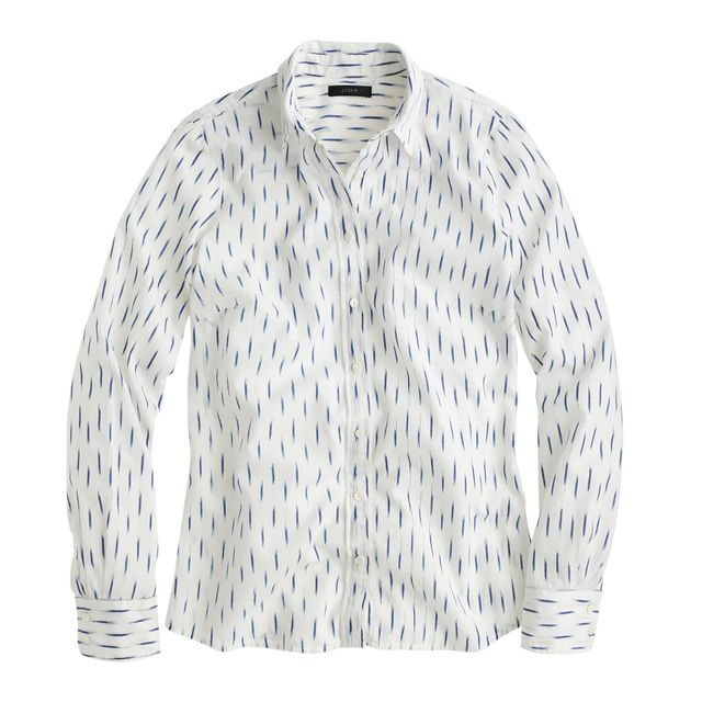 J.Crew Perfect Shirt in Dash-Dot Ikat