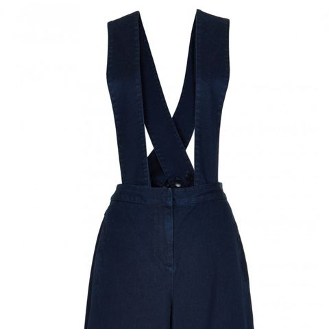 Denim Overalls With Removable Straps