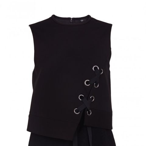 Enzo Wool Boucle Paneled Dress